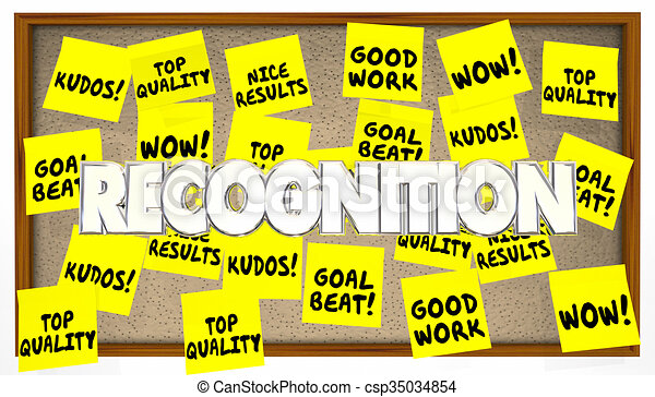 great job good work recognition praise sticky notes csp35034854
