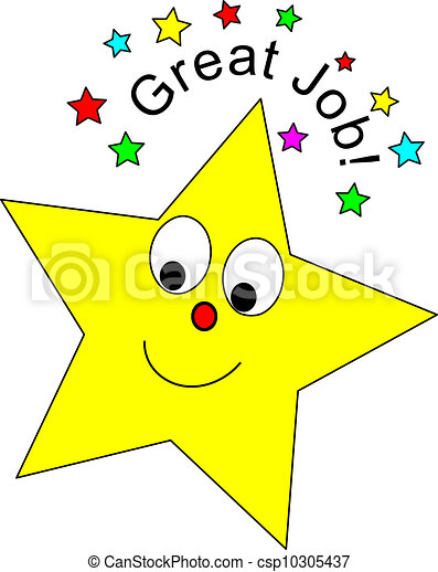 great job star cute star and great job