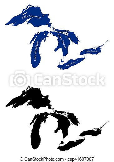 map of the great lakes map