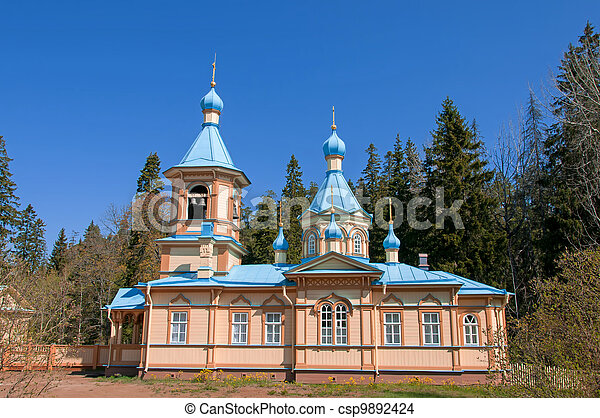 Great monasteries of Russia. Island Valaam. The church at the Gethemane Skete - csp9892424