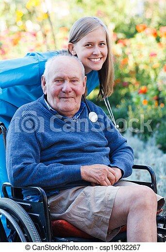 Great Mood at the Nursing Home - csp19032267