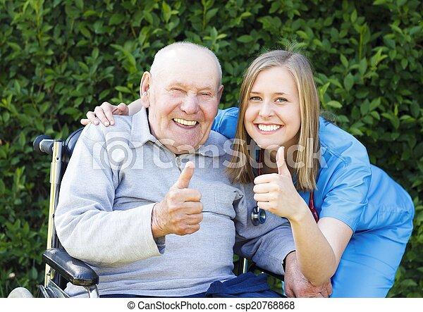 Great Mood at the Nursing Home - csp20768868