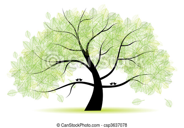 Great old tree for your design - csp3637078