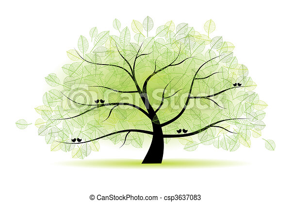 Great old tree for your design - csp3637083