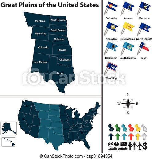 Great Plains of the United States - csp31894354