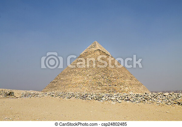 great pyramid of Hefren in Giza - csp24802485