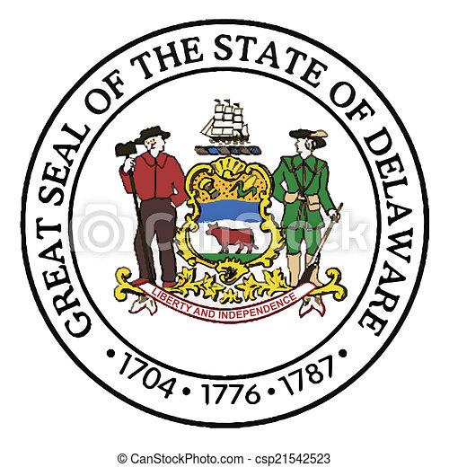 Great Seal of Delaware - csp21542523