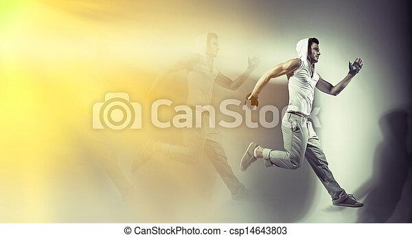 Great shoot of handsome muscular man - csp14643803