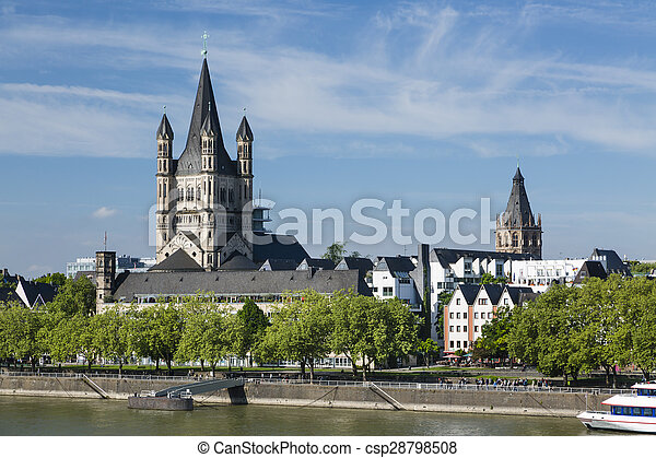 Great St. Martin Church in Cologne, Germany - csp28798508