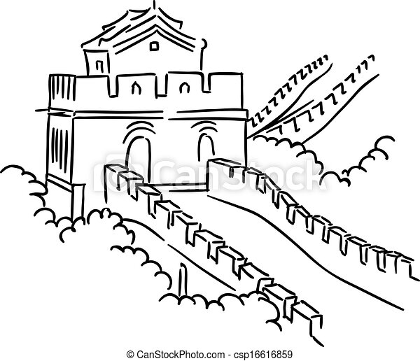 Great Wall In China For Travel And Journey Industry Design