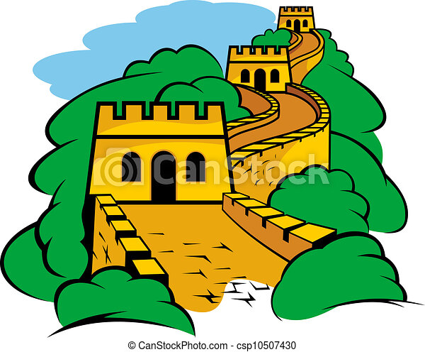 great wall in china chinese great wall landscape for travel rh canstockphoto com great wall of china clipart free great wall of china drawing clipart