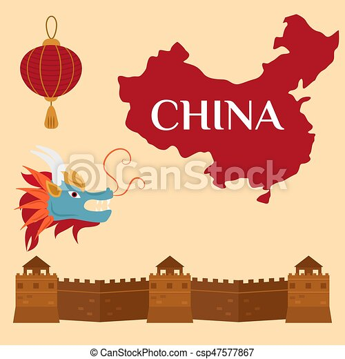 Great Wall Of China Beijing Asia Landmark Brick Architecture Culture History Vector Illustration.  sc 1 st  Can Stock Photo & Great wall of china beijing asia landmark brick architecture culture ...