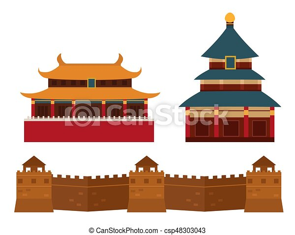 great wall of china beijing asia landmark brick architecture culture