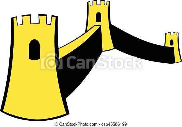great wall of china icon cartoon great wall of china icon eps rh canstockphoto com great wall of china clipart border free clipart great wall of china