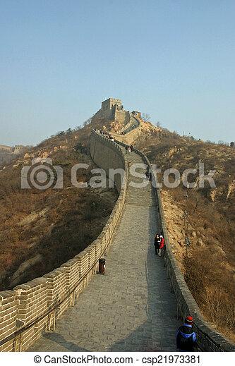 Great wall of China - csp21973381