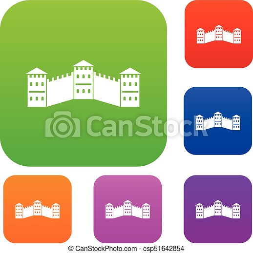 Great Wall of China set color collection - csp51642854  sc 1 st  Can Stock Photo & Great wall of china set color collection. Great wall of china set ...