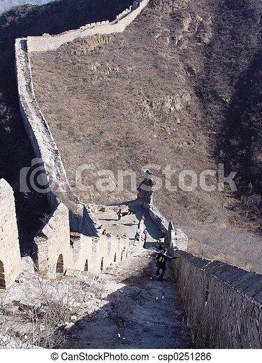 Great wall of China - csp0251286