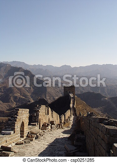 Great wall of China - csp0251285