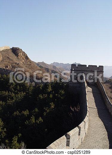 Great wall of China - csp0251289