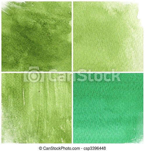 great watercolor background - watercolor paints on a rough texture paper - csp3396448