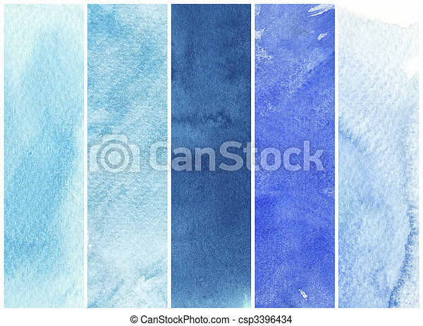 great watercolor background - watercolor paints on a rough texture paper - csp3396434