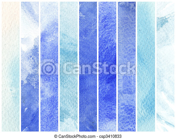 great watercolor background - watercolor paints on a rough texture paper - csp3410833