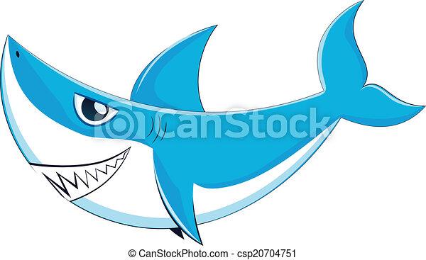great white shark cartoon great white shark with big teeth rh canstockphoto com Shark Tank Clip Art great white shark clipart black and white
