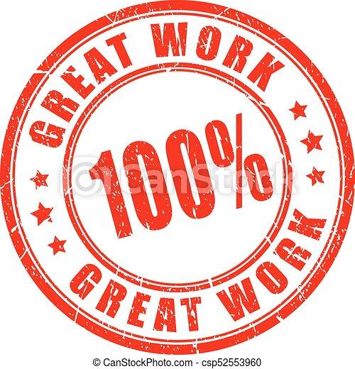 great work vector stamp great work rubber vector stamp
