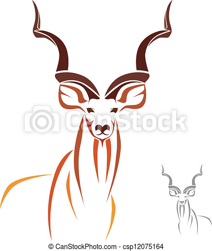greater kudu has the longest horns in the world clip art vector rh canstockphoto com