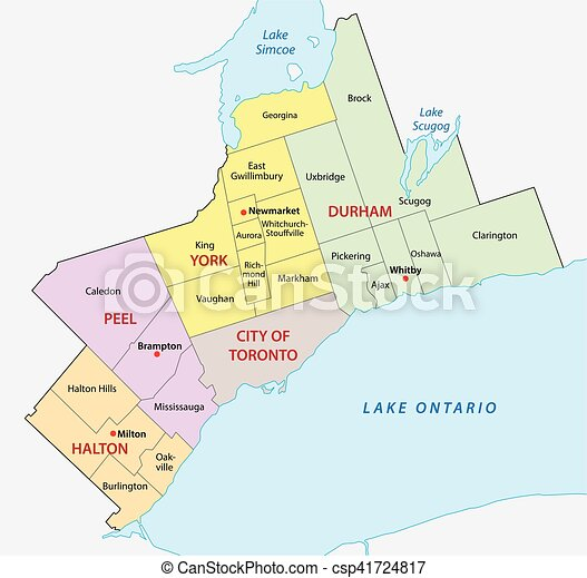 greater toronto area map - csp41724817