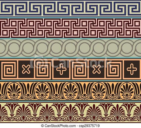 grec, ancien, conception - csp29375719