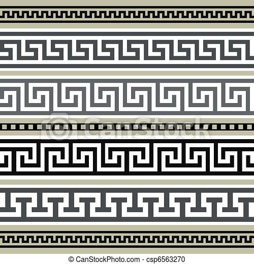 grec, géométrique, ensemble, frontières - csp6563270