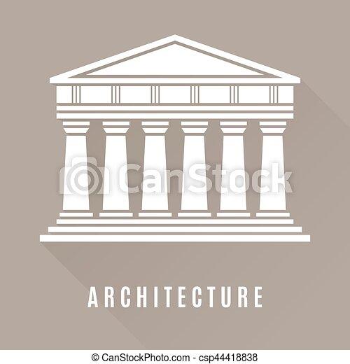 Grec temple architecture ic ne b timent brun for Architecture grec