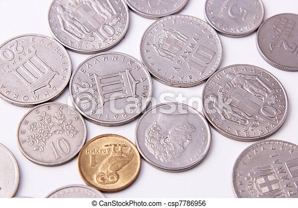 Greece coins - csp7786956
