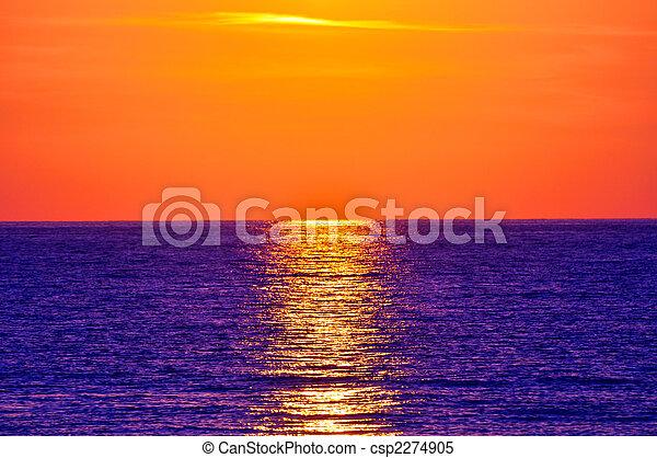 greece., creta, sunset. - csp2274905