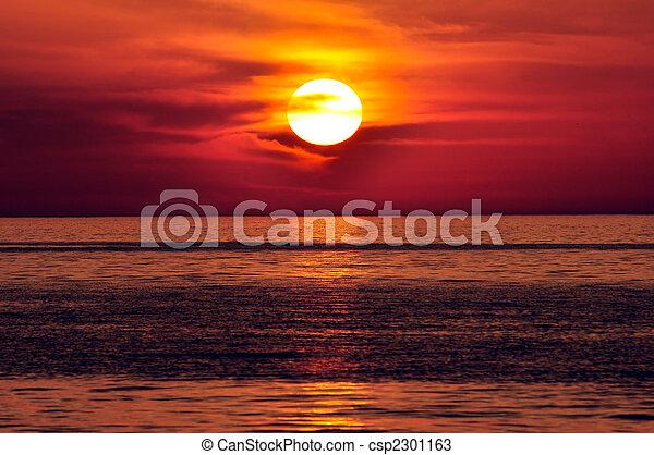 greece., crete, sunset. - csp2301163
