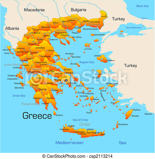 Country Of Greece Map.Greece