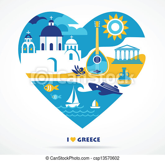 Greece love - csp13570602