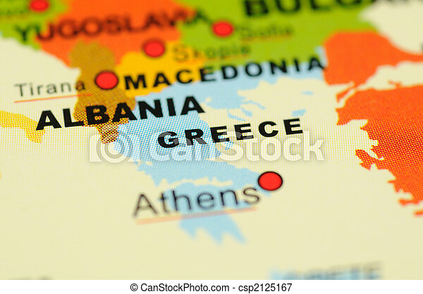 Greece on map - csp2125167