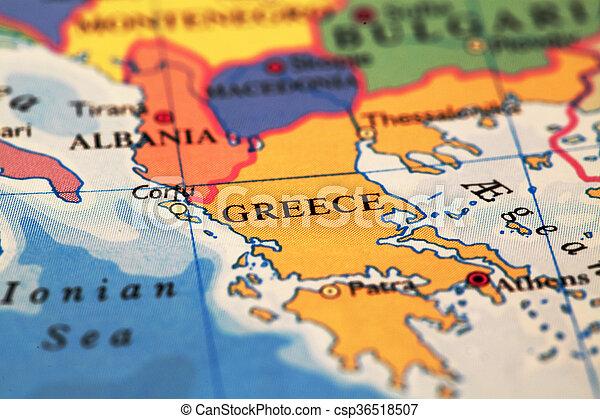 Greece On Map Greece On Atlas World Map