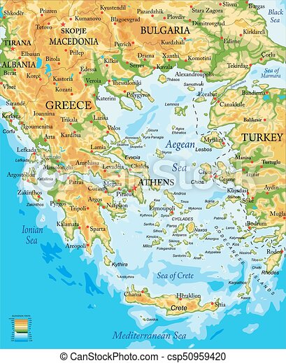 Greece relief map - csp50959420