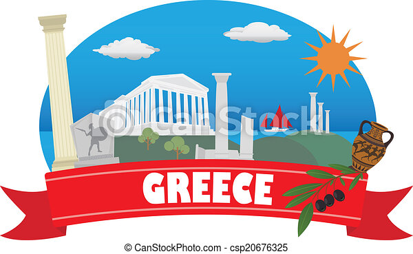 greece tourism and travel rh canstockphoto com greece clipart black and white greek clipart
