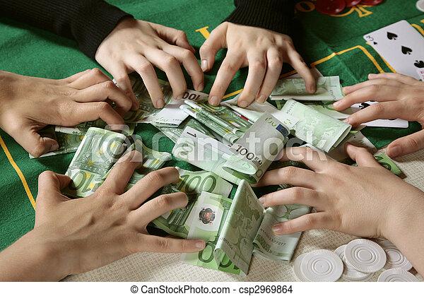 Greedy hands grabbing cash