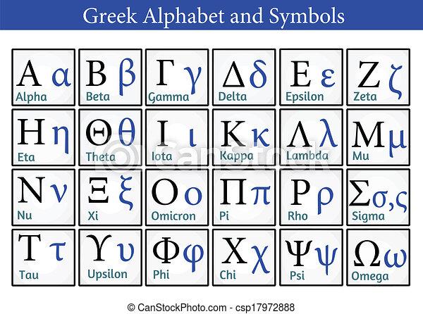 Greek Alphabet and Symbols - csp17972888