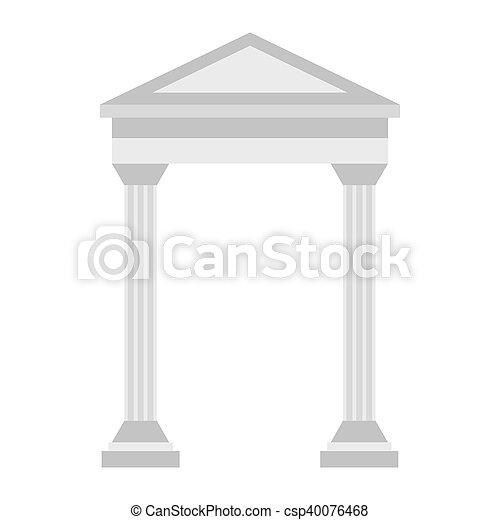 Greek arch icon, flat style - csp40076468