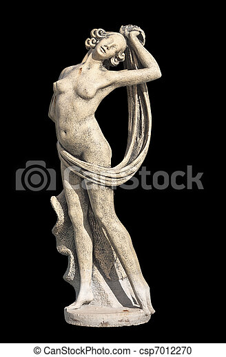 Greek archaic statue of Aphrodite - csp7012270