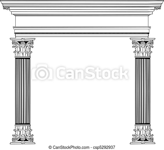 Greek Column and Arch - csp5292937