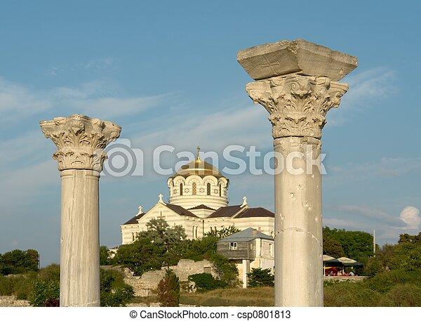 Greek columns - csp0801813