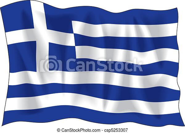 Greek flag - csp5253307
