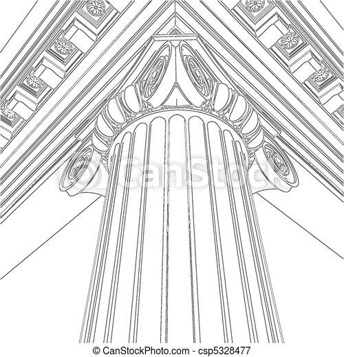 Greek Ionic Column - csp5328477